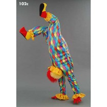 Mascotte clown in ruitjespak-10